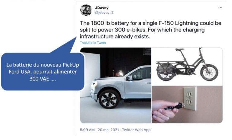 Batterie d'une voiture électrique vs vélo