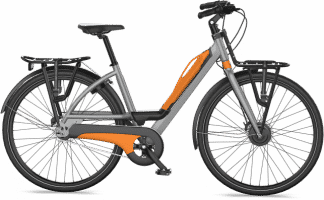 Vélo Bayck orange de profil